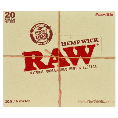 CP137 RAW Hemp Wick. 20 FT / 6 Meter. 20 Wick Bundles Per Box