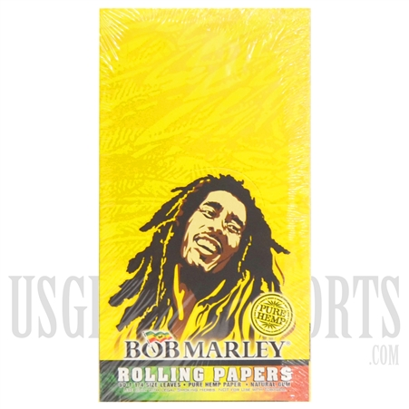 CP18 Bob Marley Rolling Papers | 1/4 Size Leaves | Pure Hemp Papers | 25 Booklets | 50 Leaves