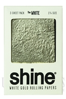 CP204 White Gold Rolling Papaers by Shine. 2 sheets, 1 1/4 each