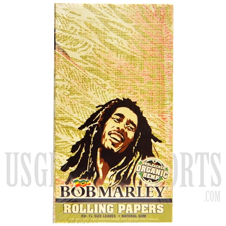 CP22 Bob Marley Rolling Papers | 1/4 Size Leaves | Unbleached Organic Hemp Papers | 25 Booklets | 50 Leaves