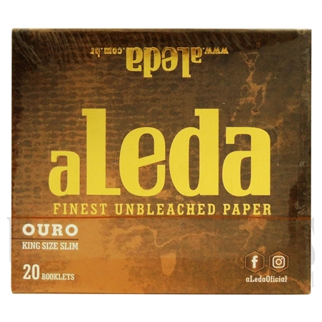 CP26 aLedinha Finest Unbleached Paper | Ouro King Size | 20 Booklets