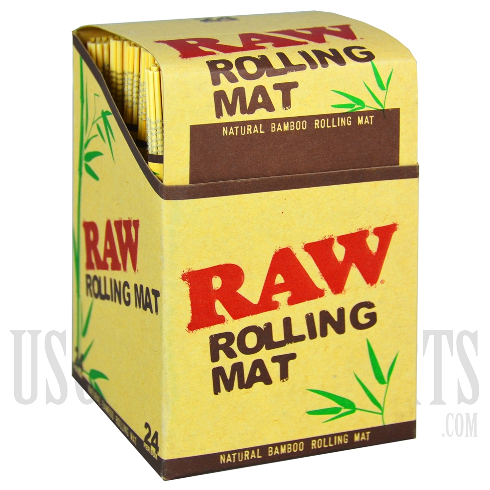 Cp60 Raw Natural Bamboo Rolling Mat 24 Per Box Wholesale