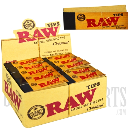 CP74 Raw Original Natural Unrefined Tips. 50 Per Box. 50 Tips Each