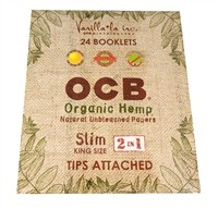 CP81 OCB Organic Slim King Size Cigarette Papers 2in1