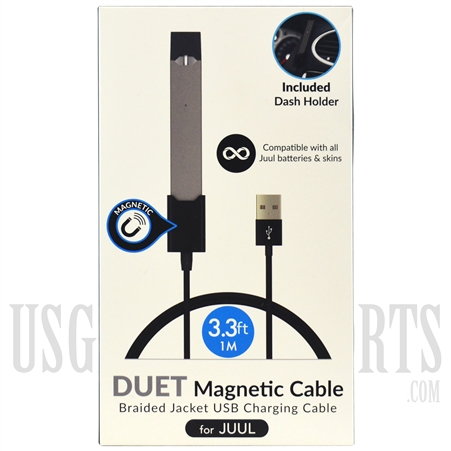DSPL-9 Duet Magnetic Cable USB Charging Cable. Juul Compatible