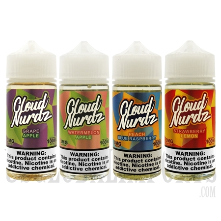 EC-844 30ML CLOUD NURDZ Salts E-Liquid. 4 Flavors
