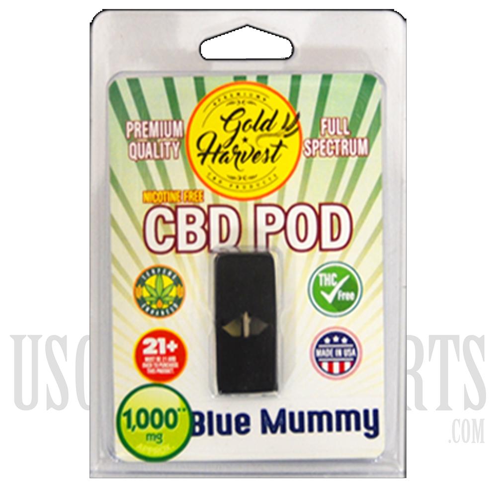 EX-14 Gold Harvest CBD Vape Pods  1ML  100MG  Juul Compatible