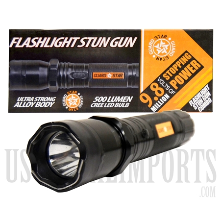 F-SG-01 Flashlight Stun Gun Combo | 500 Lumen Cree LED Bulb | 9.8M Volts