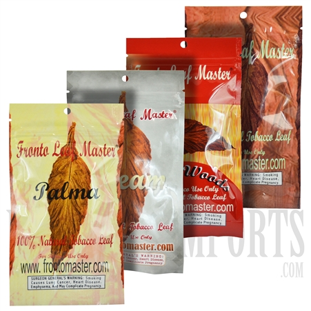 FL-102 Fronto Leaf. 100% Natural Tobacco Leaf. 4 Flavors