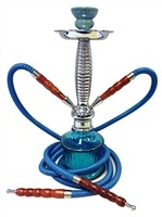 "GH200B-2H GLOBAL HOOKAH 2 Hoses 16"" Tall"