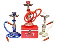 "GH700C-1H GLOBAL HOOKAH 15"" TALL W/ CASE"