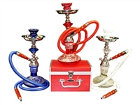"GH700C-2H GLOBAL HOOKAH 15"" TALL W/ CASE"