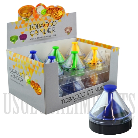 GR-1057 Top Tobacco Grinder w/ Stirring Function. Color Choices