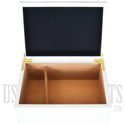 H-60 Wooden White Humidor Cigar Box