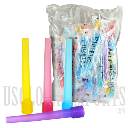 "HK-2005 3.5"" Female Hookah Mouth Tips. 50 ct. Assorted Colored"
