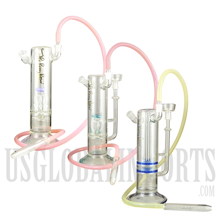 "HK-80 14"" The Heavy Hitter Premium Hookah + Dual Shower head + Tree Perc. 3 Color Choices"