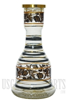 "HKA-103 12"" Color Lines + Floral Design Hookah Base"