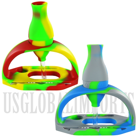 HS-20 Silicone Nectar Collector + Silicone Smoking Station