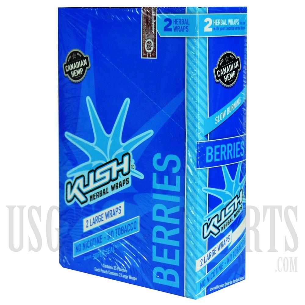 HW-101 Kush Herbal Wraps  2 Large Wraps  25 Pouches