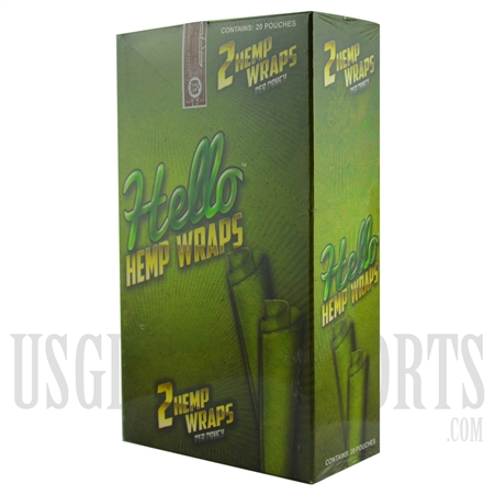 HW-105 Hello Hemp Wraps. 20 Pouches. 2 Hemp Wraps