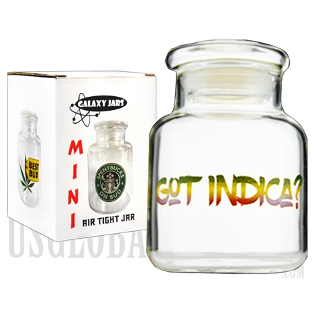"JAR-5-5 3.5"" Mini Air Tight Jar by Galaxy Jars - Got Indica?"
