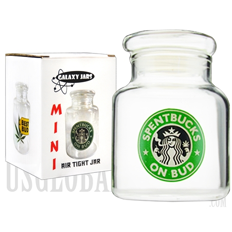 "JAR-5-9 3.5"" Mini Air Tight Jar by Galaxy Jars - Spentbucks on Bud"