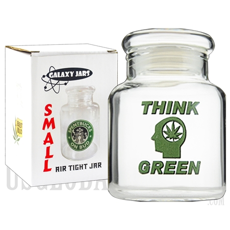 "JAR-6-10 3.75"" Small Air Tight Jar by Galaxy Jars - Think Green"