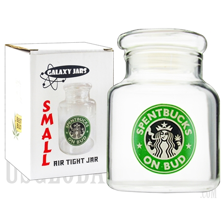 "JAR-6-9 3.75"" Small Air Tight Jar by Galaxy Jars - Spentbucks on Bud"