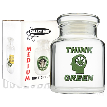 "JAR-7-10 4"" Medium Air Tight Jar by Galaxy Jars - Think Green"