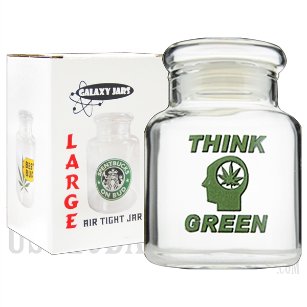 "JAR-8-10 4"".5 Large Air Tight Jar by Galaxy Jars - Think Green"