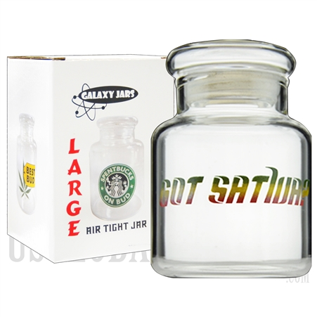 "JAR-8-6 4"".5 Large Air Tight Jar by Galaxy Jars - Got Sativa?"