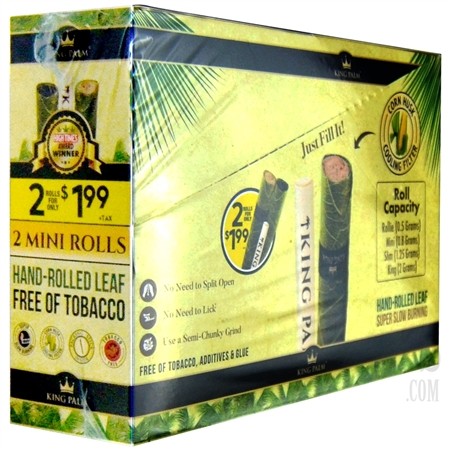 KP-113 King Palms 2 Mini Rolls Display Box | 40 Count | 20 Pouches Per Display Box