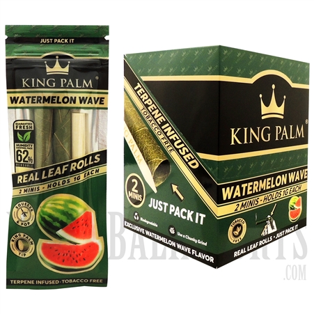 KP-116 King Palms All Natural Hand Rolled Leaf | 2 Mini Rolls | 20 Pack | Watermelon Wave