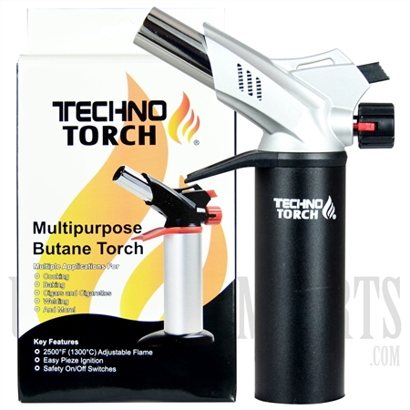 "LT-16876 TECHNO TORCH - 8"" Double Flame  Multipurpose Butane Torch"