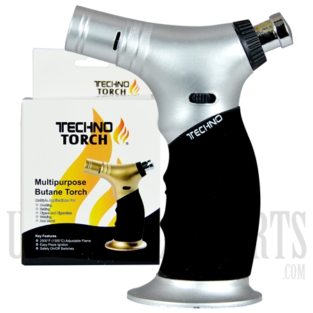 "LT-27001 TECHNO TORCH - 4.5"" Triple Flame Multipurpose Butane Torch"