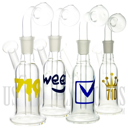 "OB-200 8"" Glass Oil Burner + Water Pipe + Decal. Different options available"
