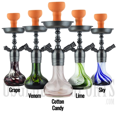 "PH-1018 16"" Pharaohs Nubia Hookah. 6 Color Options"