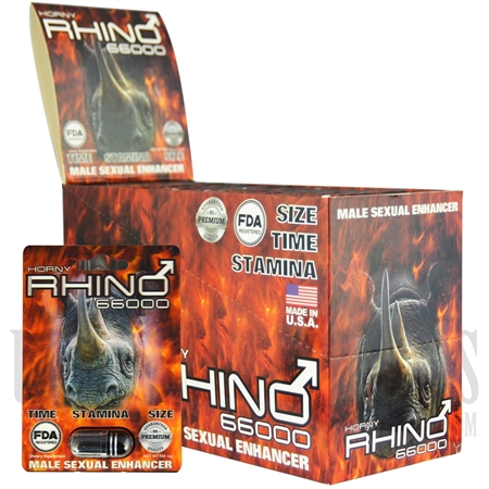 SS-41 500MG HORNY RHINO 66000 Sexual Enhancement Pills. 24pcs. FDA Registered