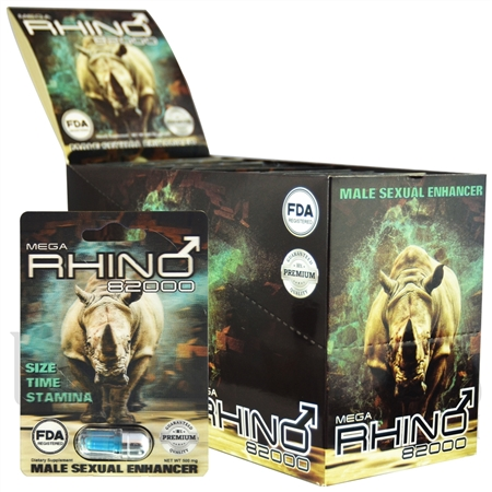 SS-42 500MG MEGA RHINO 82000 Sexual Enhancement Pills. 24pcs. FDA Registered