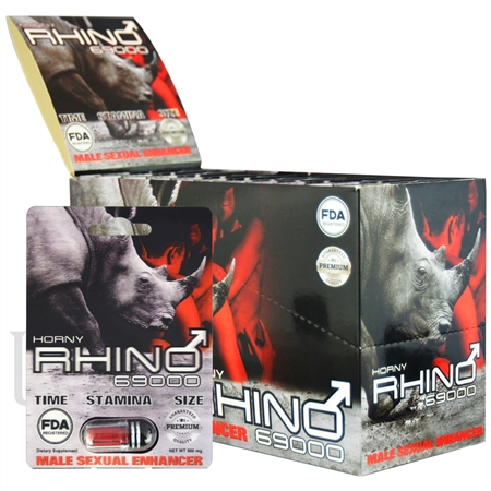 SS-44 500MG HORNY RHINO 69000 Sexual Enhancement Pills. 24pcs. FDA Registered
