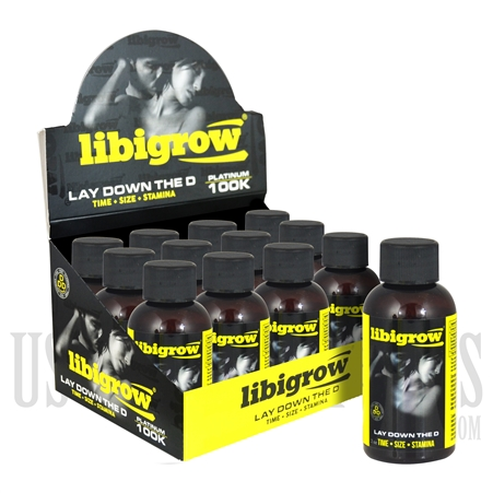SS-45 Libigrow Platinum 100K Male Sexual Performance Enhancement Drink. 12ct Liquid 2oz. Bottles. Time. Size. Stamina