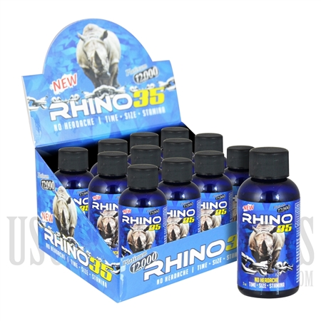 SS-46 Rhino 35 Platinum 12K Male Sexual Performance Enhancement Drink. 12ct. 2oz. Bottles. No Headaches. Time. Size. Stamina
