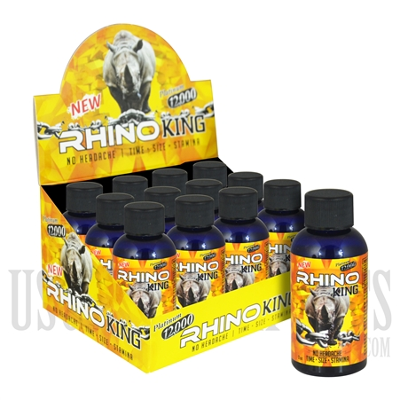 SS-50 Rhino King Platinum 12K Male Sexual Performance Enhancement Drink. 12ct. 2oz. Bottles. No Headaches. Time. Size. Stamina