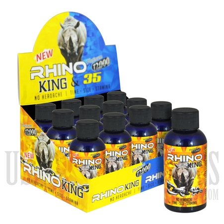 SS-51 Rhino King & 35 Platinum 12K Male Sexual Performance Enhancement Drink. 12ct. 2oz. Bottles. No Headaches. Time. Size. Stamina