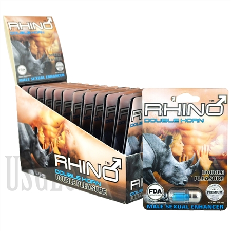 SS-65 Rhino Double Horn Double Pleasure - 24ct 500mg Each Pill. FDA Registered