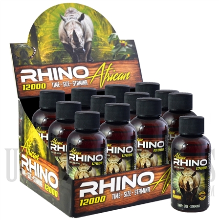SS-66 Rhino African 12K Male Sexual Performance Enhancement Drink. 12ct. 2oz. Bottles. Time. Size. Stamina