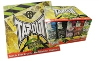 T-114 Tapout Refillable Torch Lighters Display