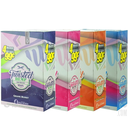 TH-002 Twisted Flavored Wraps. 15 Pouches. 4 Wraps Each. 4 Flavors Available.