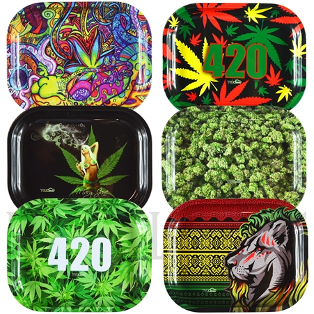 "TR-19 7""x5.5"" Unique Design Tin Rolling Trays"