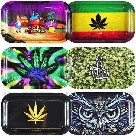 "TR-20 10.5""x6.5"" Unique Design Tin Rolling Trays"